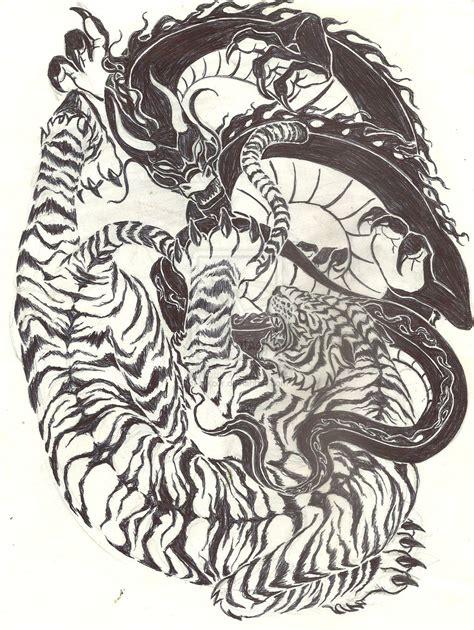 tiger  dragon tattoo ideas pinterest tigers