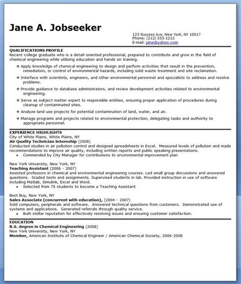 info cv  fresh graduate chemical engineer printable