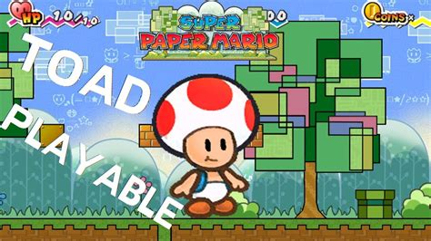 Super Paper Mario Toad Playable Youtube