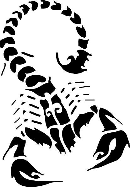 black scorpion clip art  clkercom vector clip art