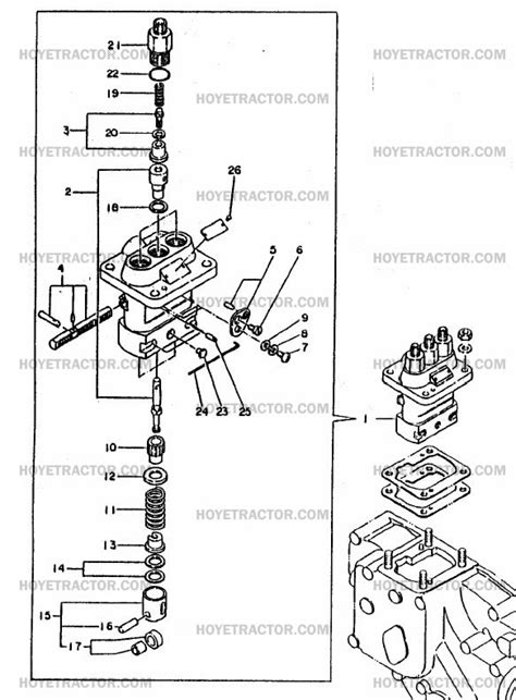 injectorpump yanmar tractor parts