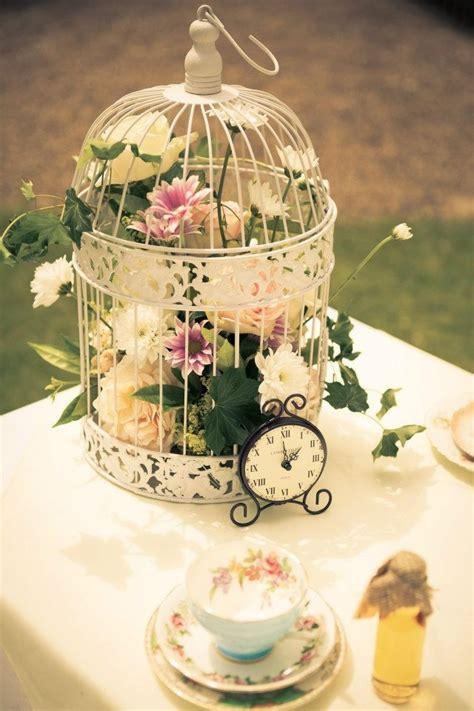 ideas  bird cage centerpiece  pinterest