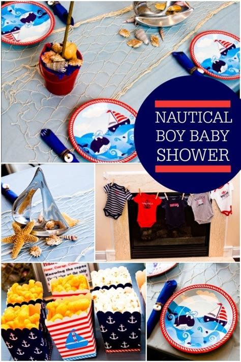 nautical themed boy baby shower spaceships  laser beams