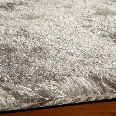 Silky Shag Rug silky shag rug white 4 0 quot x 4 0 quot luxe rugs