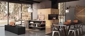 Cuisine contemporaine decor bois gaia zenit haut de for Idee deco cuisine avec fabricant cuisine