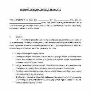 Interior design contract for Interior decorating contract