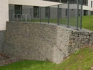 Mur En Gabion : gabion fontaine gabion walls also appear in the garden ~ Premium-room.com Idées de Décoration