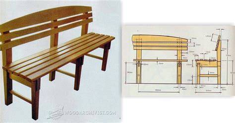 bench seat plans woodarchivist