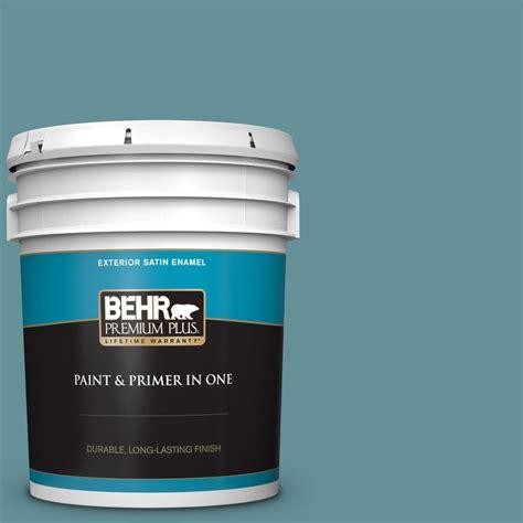 behr premium plus 5 gal t15 16 blue clay satin enamel