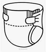 Diaper Coloring Pannolino Colorare Da Clipartkey sketch template