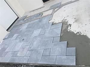 Dalle Pierre Terrasse : pose de dalles pierre naturelle multi format pour une terrasse beauvir ~ Preciouscoupons.com Idées de Décoration