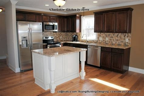 Affordable kitchen w dark maple cabinets, contrasting