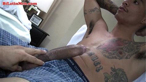tatted latin thug jerking of xnxx