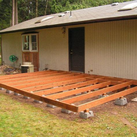How To Build A Patio by How To Build A Deck Using Deck Blocks Backyard Wood