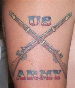 Crossed rifles us army tattoo - Tattooimages.biz