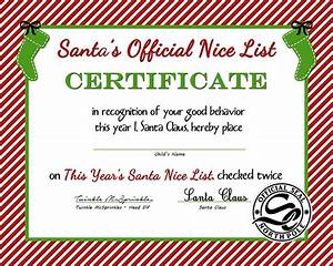 FREE Santa's Official Nice List Certificate (Printable ...