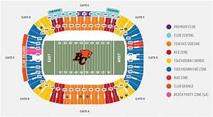 Daily S Place Seating Chart Bc Lions Unveil New 20 General Admission 39 Party 39 Section