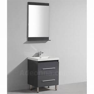 Meuble Salle De Bain Gris : meuble de salle de bains simple vasque gris laqu en 600 ~ Preciouscoupons.com Idées de Décoration