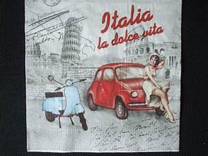 Fiat 500 Ancienne Italie : serviette en papier italie la dolce vita vespa fiat 500 tour de pise colis e ~ Medecine-chirurgie-esthetiques.com Avis de Voitures