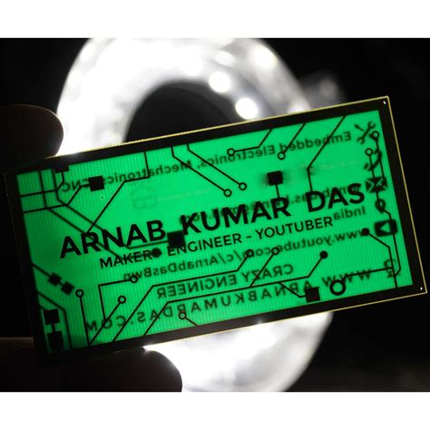 pcb business card for electrical electronics engineer arnab das