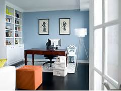 Love The Soft Blue Wall Color Do You Knkow The Name And Mfg Best Tips For Choosing The Right Office Painting Color Schemes In Colors For Living Room Home Office Paint Colors Office Wall Colors Office Hers Deep Space By Valspar My Office Which I