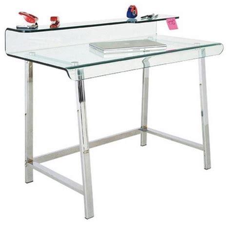bureau acier et verre bureau clear en verre et acier inoxydable comparer les