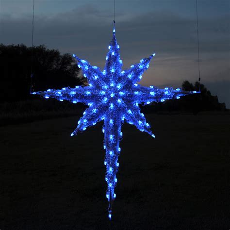light blue outdoor christmas lights shop holiday lighting specialists 6 83 ft moravian star