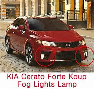 Fog Lights Lamp Assembly Cover Wiring  Fits  Kia 2010