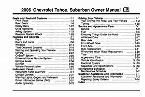 2006 Chevrolet Tahoe Owners Manual