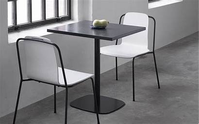 Table Form Square Wood Cafe Tables Chair