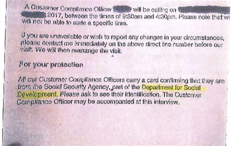 department communities sending letters