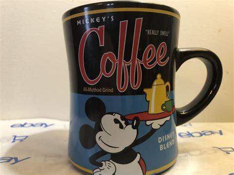 Target/kitchen & dining/disney coffee mugs (1303). Mickey's Coffee Mug Really Swell Disney Blend Disney Parks Perks 16 Oz | Disney coffee mugs ...