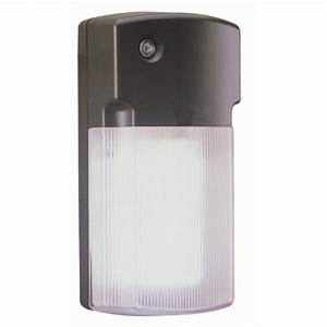 Utilitech head watt black fluorescent dusk to