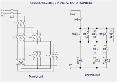 reverse  phase ac motor control star delta wiring