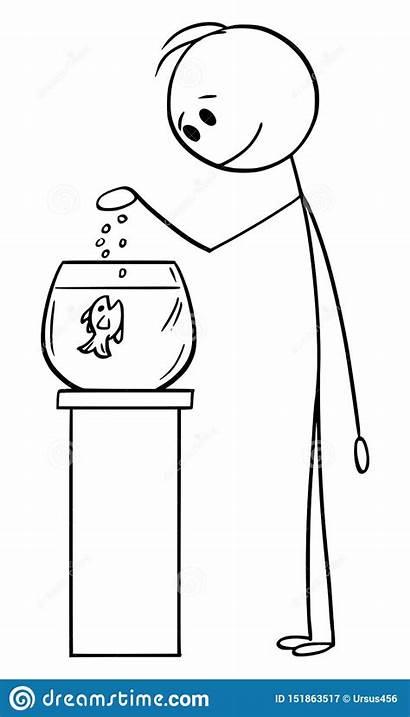 Fish Tank Cartoon Fishbowl Aquarium Stick Feeding