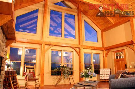 log homes council features navajo floor plan  honest abe
