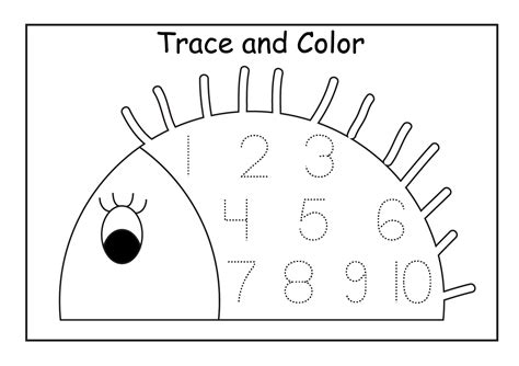 tracing numbers worksheets 1 10 boxfirepress