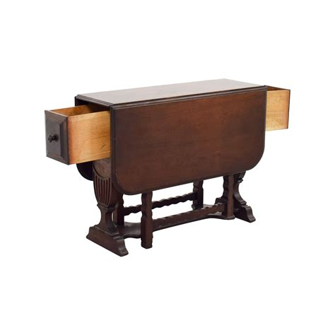 drop leaf table  drawers tables