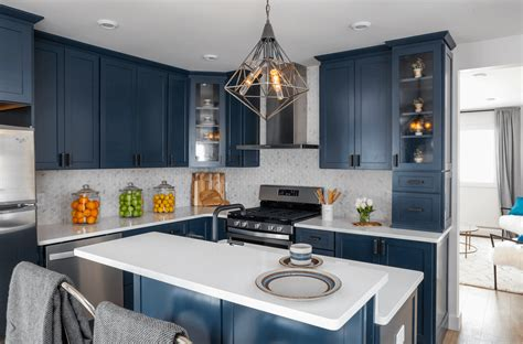navy blue kitchen cabinets kitchen trend navy blue cabinets mcgillivray 3467