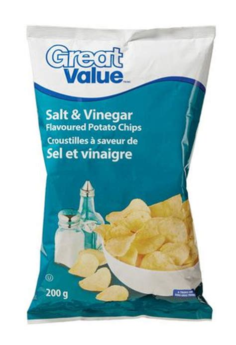salt ls walmart canada great value salt vinegar flavoured potato chips