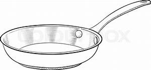 A hand drawn vector illustration of a cooking pan | Stock ...