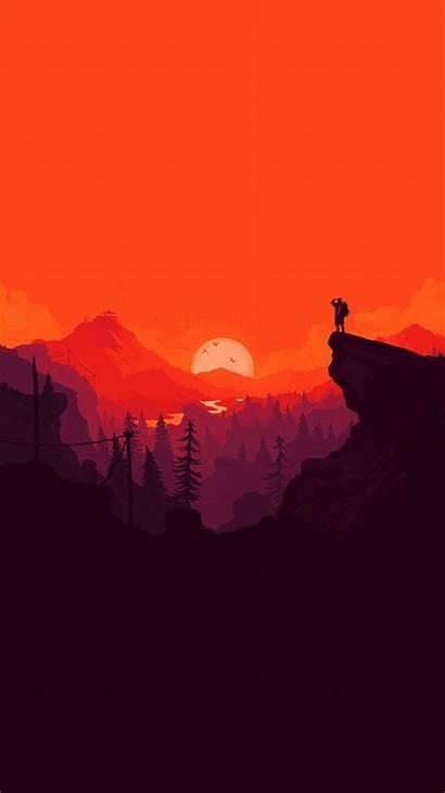 Iphone Simple Minimal Nature Sunset Minimalist Wallpapers