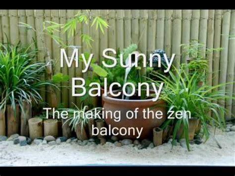mysunnybalcony  making   zen balcony youtube