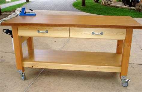 garage workbench on wheels carv free workbench plans with wheels