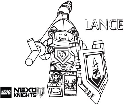 Lego Nexo Knights Coloring Pages Free Printable Lego
