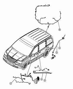 Chrysler Town  U0026 Country Wire Track  Sliding Door Right