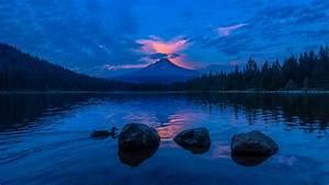 3840x2160, Lake, Blue, Sky, Sunset, 4k, 4k, Hd, 4k, Wallpapers