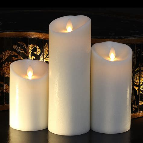 diameter moving flame ivory   flameless candle