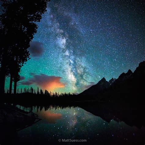 String Lake Milky Way At Grand Teton National Park