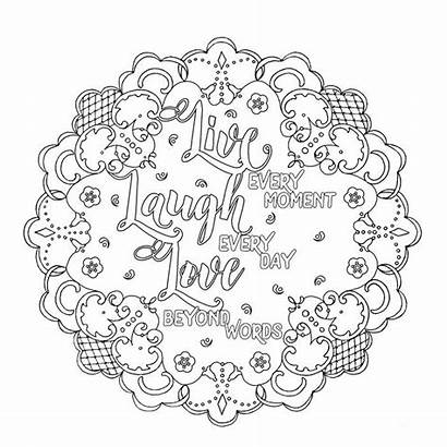 Coloring Laugh Pages Adult Printable Sheets Mandala